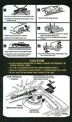1981-82  FIREBIRD//TRANS AM  JACK INSTRUCT DECAL ALL MODELS