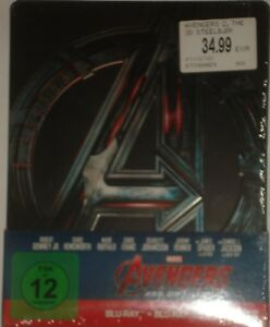 Marvel-039-s-Avengers-Age-of-Ultron-Blu-Ray-3D-2D-Steelbook-2-Disc-Edition-NEU-OVP