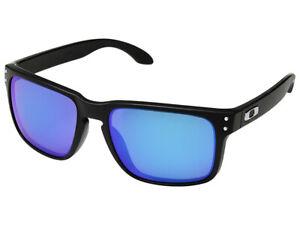 Oakley-Holbrook-Polarized-Sunglasses-OO9102-F055-Matte-Black-Prizm-Sapphire