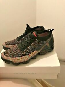 timeless design 5888e 9cc57 Details about Nike vapormax flyknit 2.0 mens trainers,fly knit,black pink,  rainbow,size 10 uk
