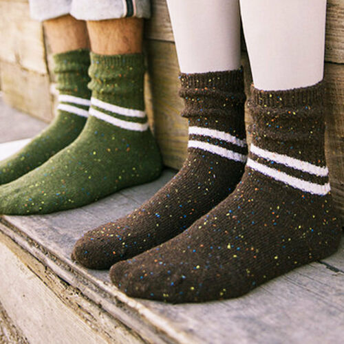 1 Paar Herren Damen Strick Baumwollsocken Weich Dick Winter-Warm-Freizeit Nett