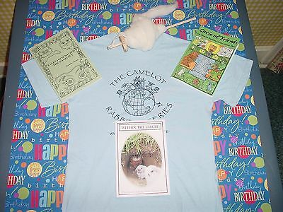 The Camelot Rabbitry Series, World Peace,Ages 9-12 , T-shirt,drop spindle
