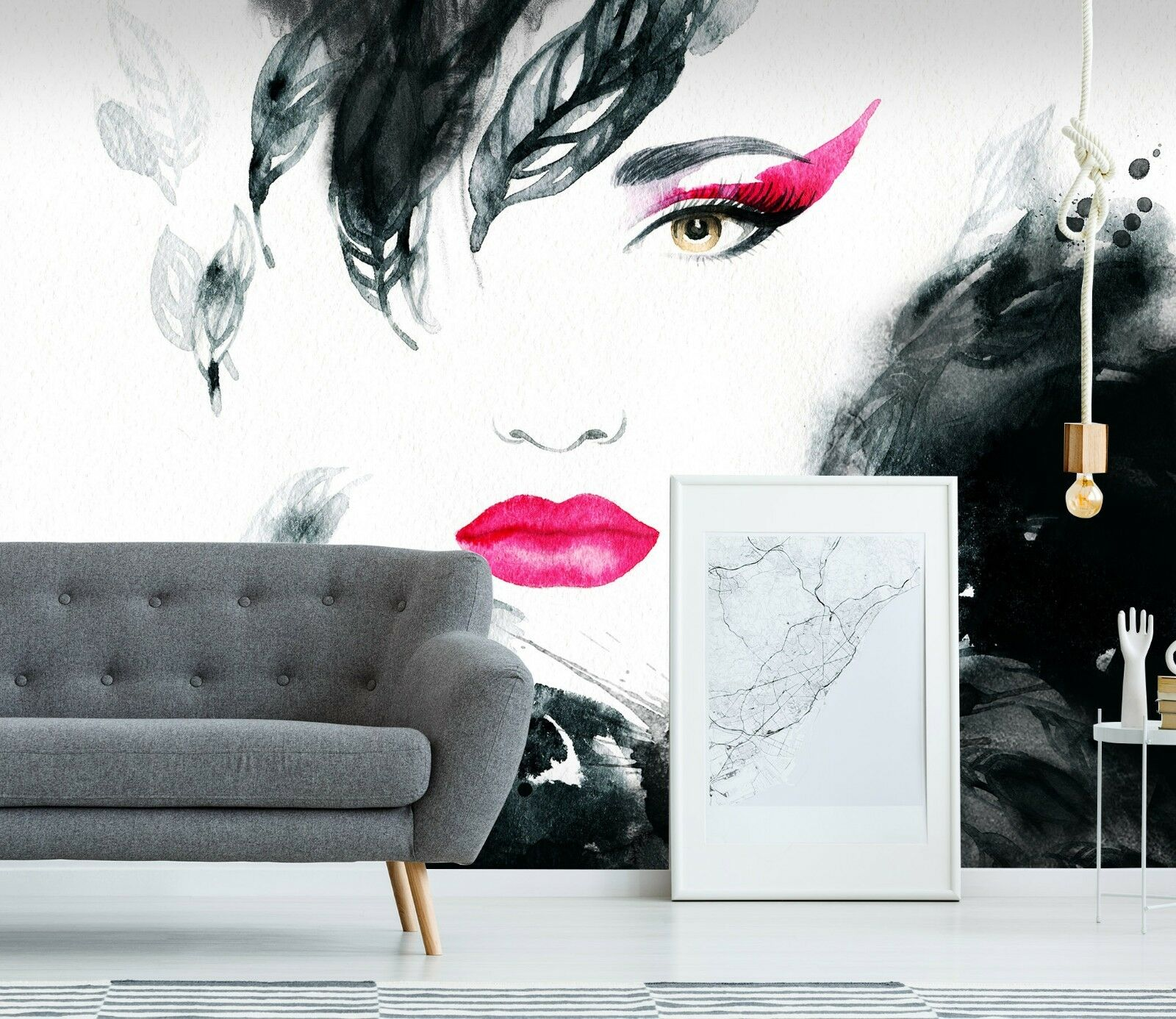 3D Ink Girl Painting 44 Wall Paper Wall Print Decal Wall Deco Indoor Wall Murals