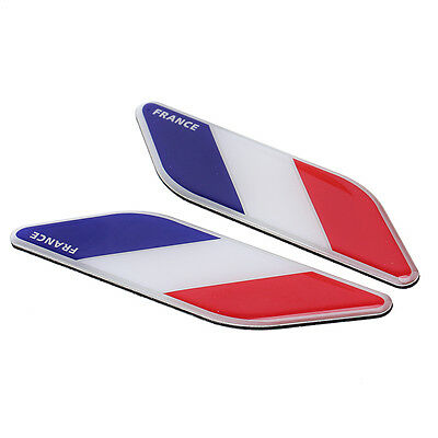 2x France Flag Emblem Stickers French Francaise Flag Decals For Citroen Renault