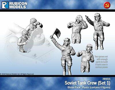 1//56 scale 28mm Soviet Tank Crew Wargaming Rubicon RU-284015