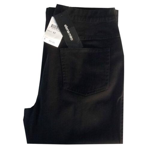 ELENA MIRO/' pantalone donna cotone invernale nero mod jeans vestibilità REGOLARE