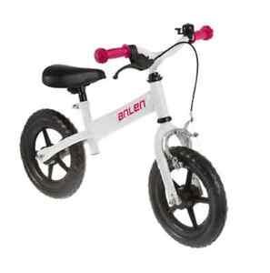 Draisienne avec frein blanc rose enfant velo sans pedales fille jouet NEUF