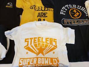 4f46f2812 Vintage Pittsburgh Steelers T Shirt Lot of 7 Medium Med Large Retro ...
