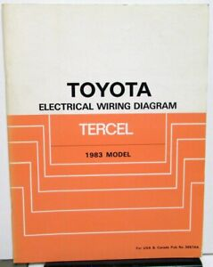 1983 Toyota Tercel Electrical Wiring Diagram Service Shop ...
