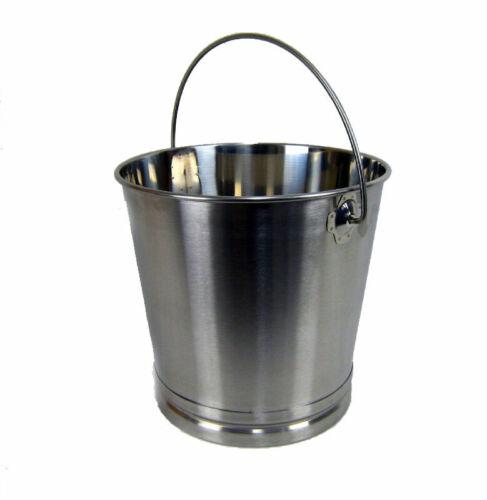 Eimer Kücheneimer Futtereimer Milcheimer Sektkühler Edelstahl 20 Liter Deckel