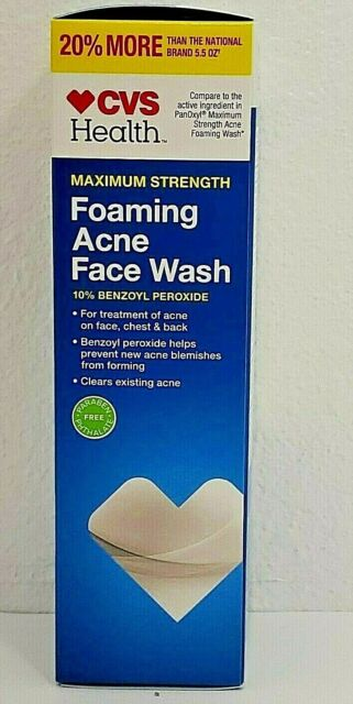 Cvs Health Maximum Strength Foaming Acne Face Wash 6 6 Oz Ea 2 Bottles For Sale Online Ebay