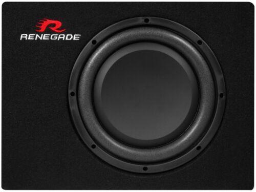 Renegade RXS1000 kompakt Gehäusesubwoofer 25 cm 400 Watt Auto Subbox