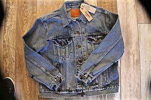 super popular 3b55d 64963 Dettagli su Giacca Jeans Indigo Ex-Boyfriend Trucker Donna LEVI'S Taglia L  Nuovo