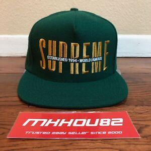 9520e7ea035 New Supreme Global 5-Panel Cap Hat Snapback Camp World Famous Green ...