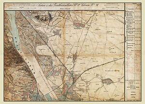 MAP-AUSTRO-HUNGARIAN-MILITARY-1872-STREBERSDORF-REPLICA-POSTER-PRINT-PAM0545