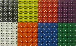 50-x-Opaque-10mm-Six-Sided-Spot-Dice-D6-RPG-Games-New-D061