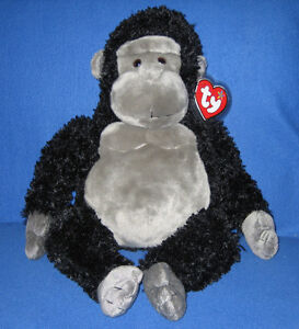 """TY LARGE TUMBA THE GORILLA BEANIE BUDDY - MINT with MINT TAGS 20"""""""