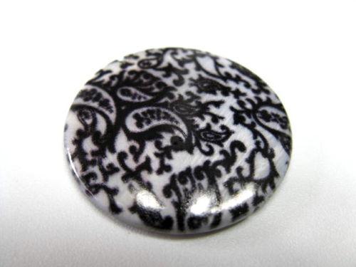 Scheiben 20mm mit Blumenmuster rund Perlen 8599 2 Muschel