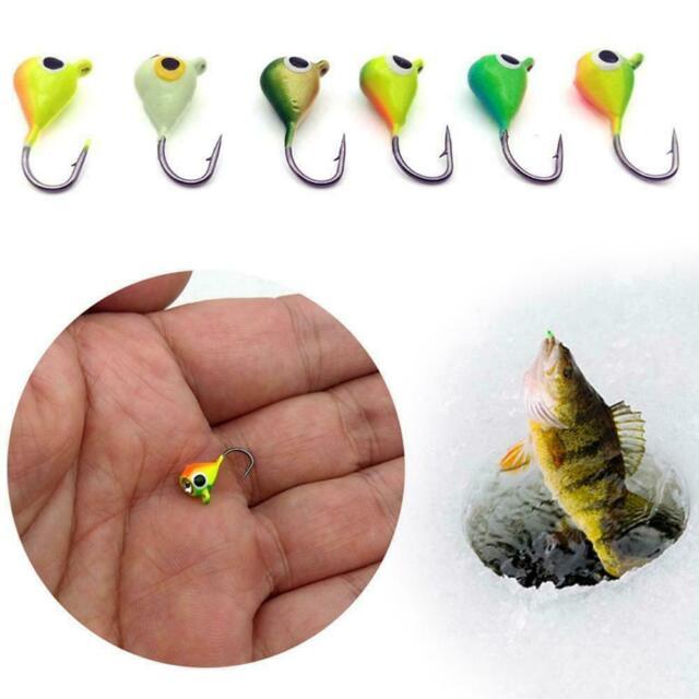 6Pcs Winter Ice Fishing Jig Head Barbed Hooks Lure 15mm//1.1 A6I7 Bait Set T M4R4