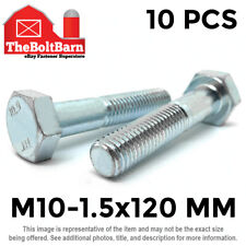 M6-1.0x35 Metric Class 10.9 Hex Cap Screws Hex Bolts Zinc Clear 18
