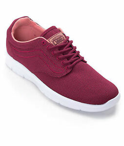 183 VANS Men RED WHITE ISO 1.5 LOW TOP CANVAS SKATEBOARDING ... 09a3c9207