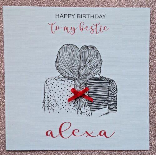 Celebrations Occasions Home Furniture Diy Home Furniture Diy Personalised Handmade Birthday Card Bestie Best Friend Girl Any Age Skvus Hr