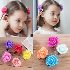 2Pcs-Cartoon-Hair-Clip-Glitter-Hairpin-Kid-Hair-Sparkly-Star-Grips-C5X