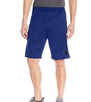 Adidas Men's Designed 2 Move 3 Stripes Shorts Black Red BQ3185 Size L