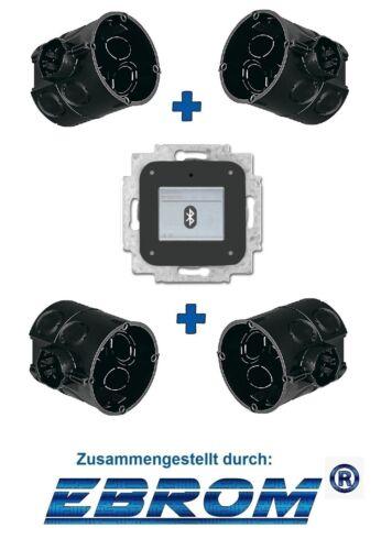 Busch Jäger Unterputz UP Bluetooth Radio 8217 U inkl 4 x Kaiser Dosen 1555-04