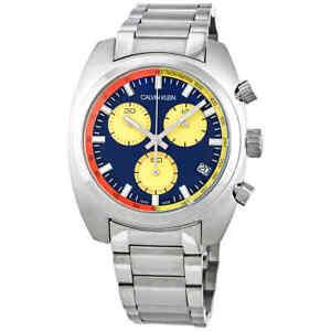Calvin-Klein-Achieve-Chronograph-Quartz-Blue-Dial-Men-039-s-Watch-K8W3714N