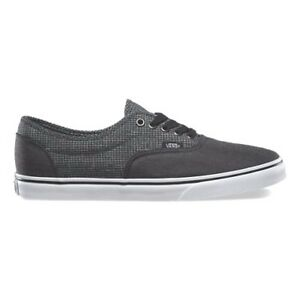 cf117f4621 VANS LPE (2 Tone Suiting) Black True White Mens Skate Shoes