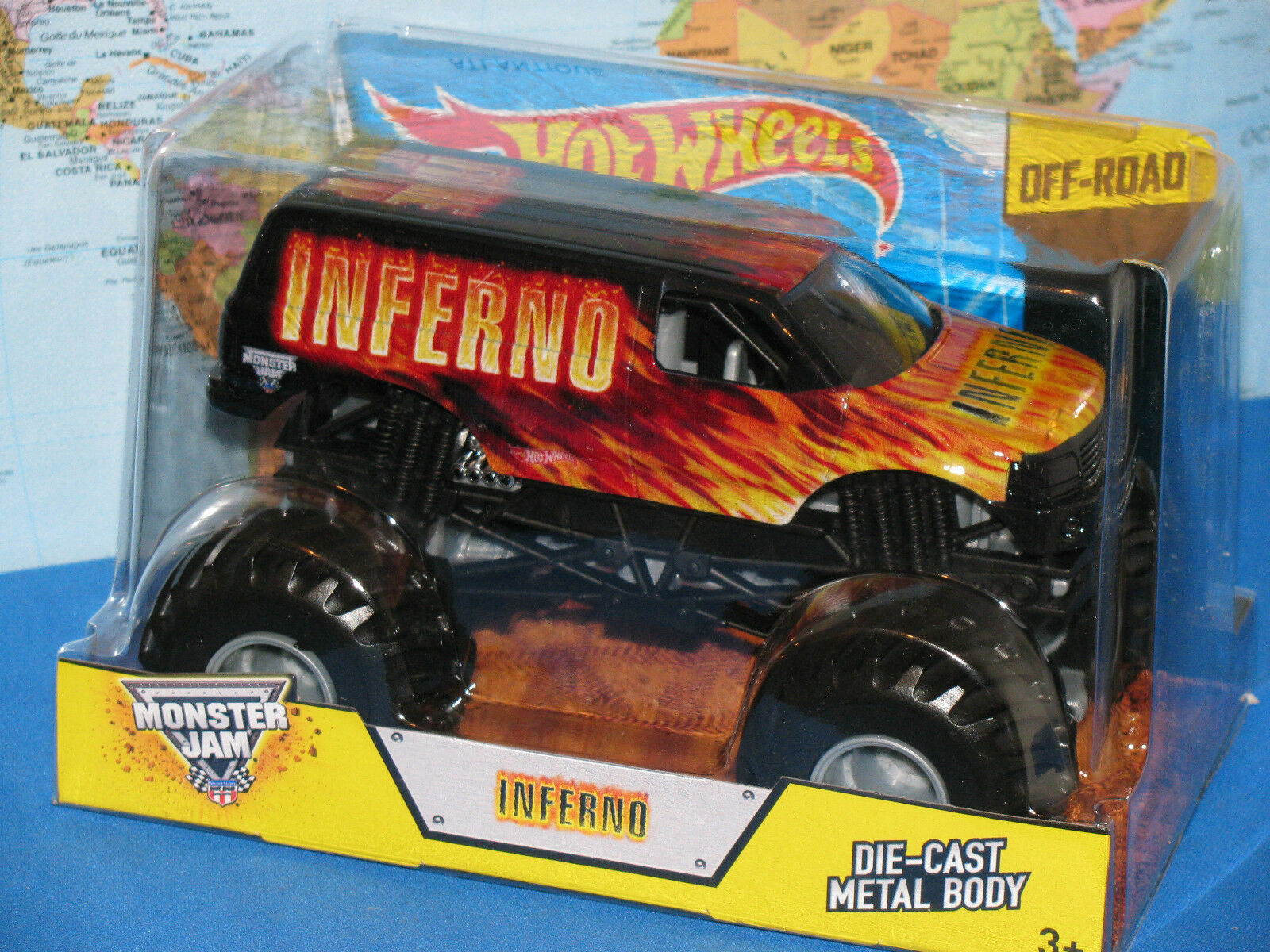 1 24 Hot Wheels Confiture de Monstre Camion Inferno Hors-Piste
