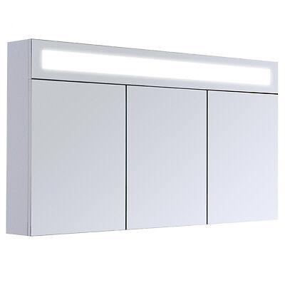 3D Mirrored Wardrobe Bathroom Cabinet Furniture Wall Mirror Illuminated 120 cm