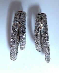 2-34ct-Natural-Double-Hoop-Diamond-Earrings-14kt