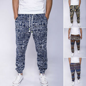Mens-Thai-Yoga-Pants-Baggy-Harem-Trousers-Elephant-Unisex-Drawstring-Hippy-UK