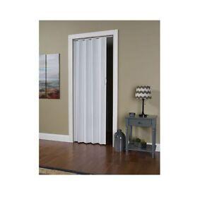 Folding Door Closet Interior Room Dividers Sliding Track White 24 36 X 80 New Ebay