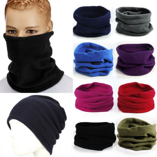 Womens Mens Thermal Beanie Hat Snood Scarf Neck Warm Ski Balaclava Face Mask New