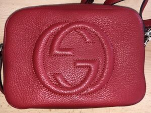 244e12e96 Image is loading GUCCI-SOHO-RED-DISCO-LEATHER-CROSSBODY-SHOULDER-BAG-