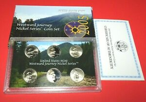 2005 /& 2006 Westward Jouney Nickel Series Coin Sets