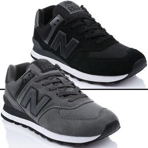 Details zu Schuhe NEW BALANCE ML574 Herrenschuhe Turnschuhe Sneaker  Freizeit Schwarz Grau