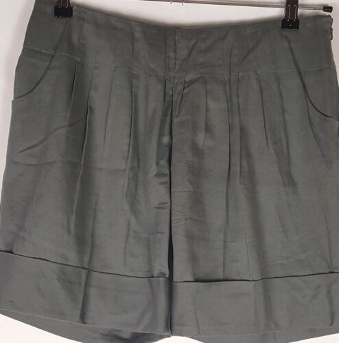 Size Zip risvolto Side con Birger plissettato Day Et anteriore Grey 30 Pantaloncini Womens Mikkelsen q1S76wR