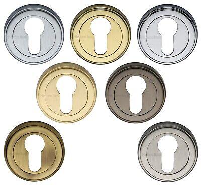 Euro Profile Cylinder Lock Escutcheon Polished Chrome Concealed Fix UK Quality