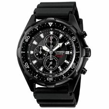 Casio AMW330B-1AV, Chronograph Black Resin Watch, 100 Meter WR