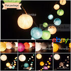 20 COTTON BALLS FAIRY STRING LIGHTS PARTY PATIO Holiday WEDDING Bedroom DECOR