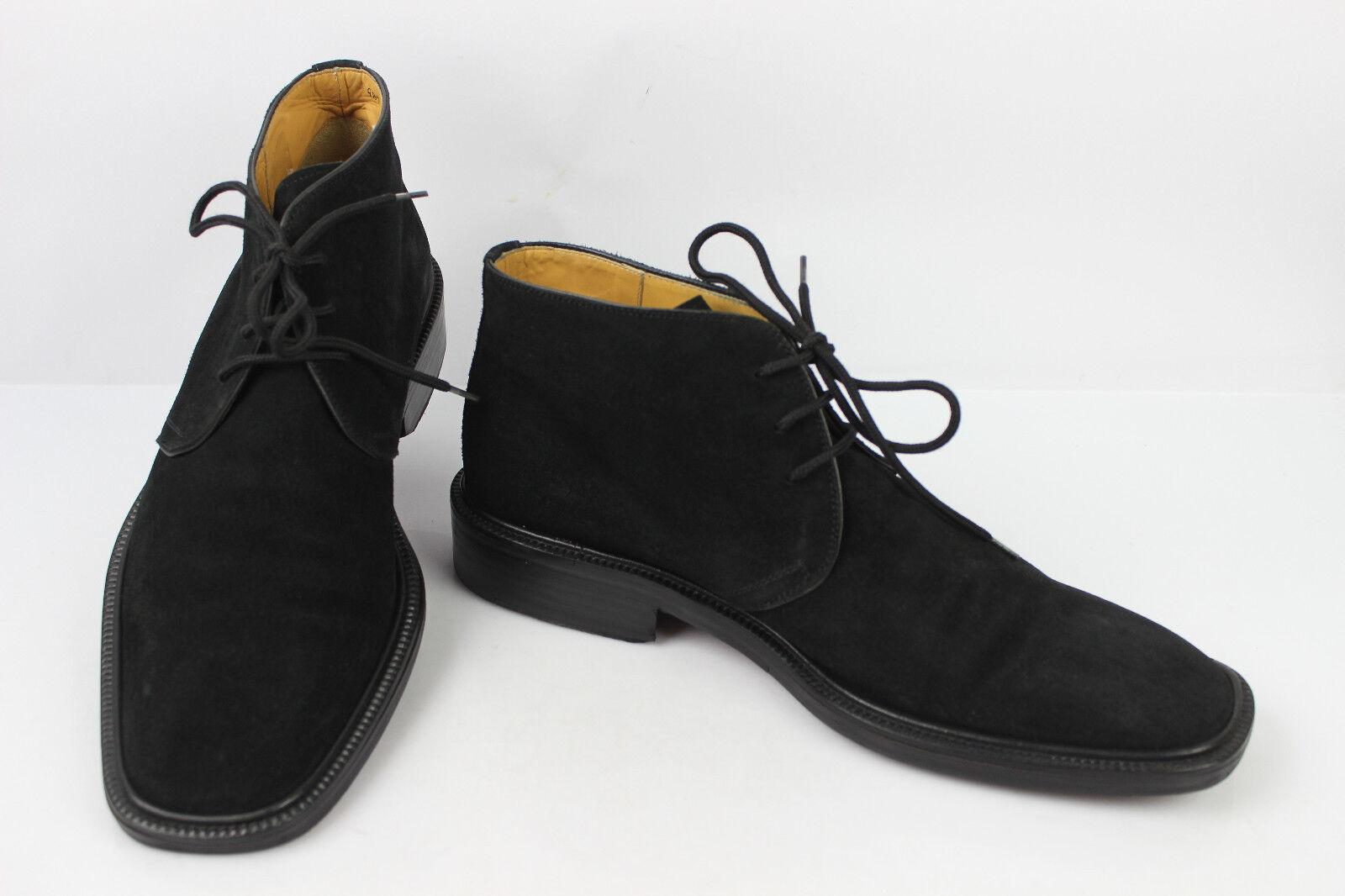 Scarpe con lacci / Stivali HEYRAUD In Pelle Camoscio Nero T 44 ottima qualità