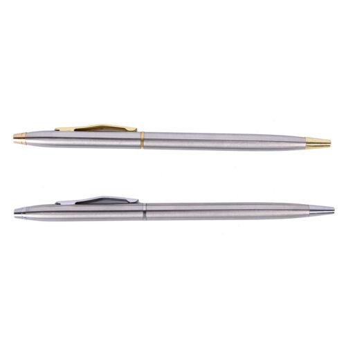 1 stück Metall Kugelschreiber Schreibwaren Edelstahl Stange DrehkugelschreiRSDE