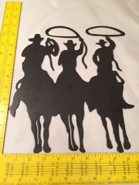 Three Cowboy Silhouette Metal Cut-out Western Wall Decor 12112 | eBay