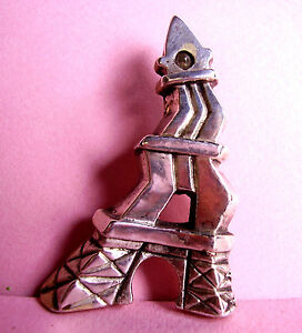 1847 / F. Volle / Broche Lumineuse Systeme Loupi / Tour Eiffel Emballage Fort