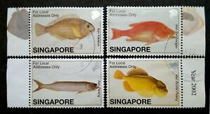 Singapore-2002-Farquhar-Collection-Fish-Strip-Of-4-4v-Used