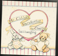 Handprint, Child To Cherish, Baby's First, Wallhanging, Pink,